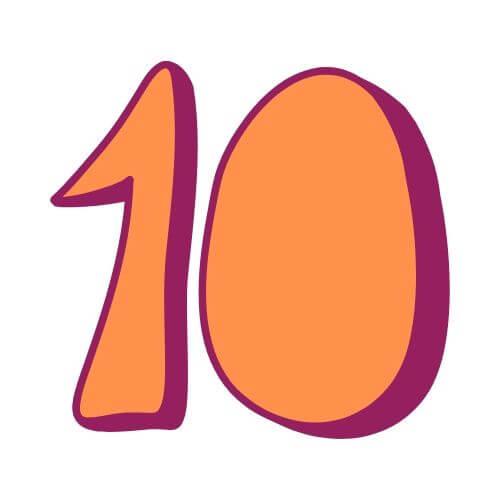 Pinata Zahl 10