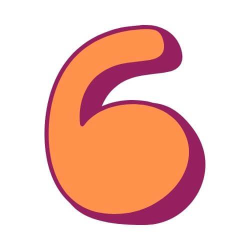 Pinata Zahl 6