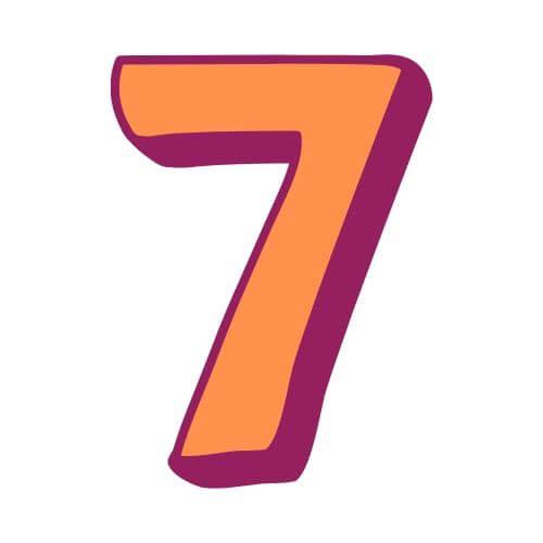 Pinata Zahl 7