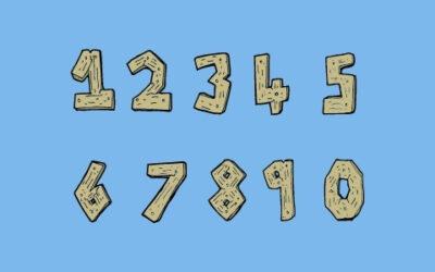 Pinata Zahl 0, 1, 2, 3, 4, 5, 6, 7, 8, 9