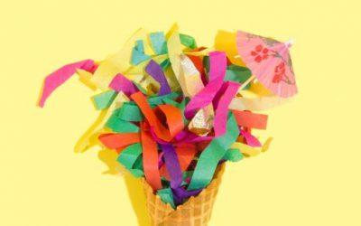 Krepppapier für Pinata (Ideen, Farben, Fromen)
